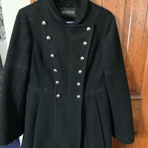 GUESS Double-breasted, Skirted Coat